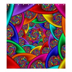 Color Spiral Shower Curtain 66  X 72  (large)  by Simbadda