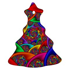 Color Spiral Christmas Tree Ornament (two Sides)