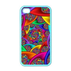 Color Spiral Apple Iphone 4 Case (color)