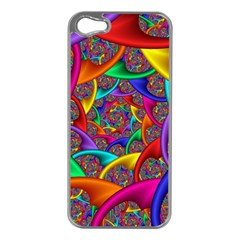 Color Spiral Apple Iphone 5 Case (silver) by Simbadda