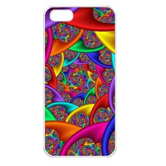 Color Spiral Apple Iphone 5 Seamless Case (white)