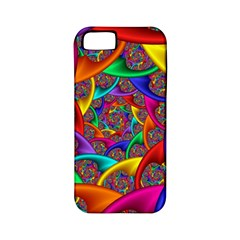 Color Spiral Apple Iphone 5 Classic Hardshell Case (pc+silicone) by Simbadda