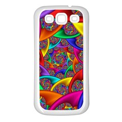 Color Spiral Samsung Galaxy S3 Back Case (white) by Simbadda