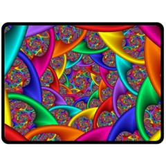 Color Spiral Double Sided Fleece Blanket (large)  by Simbadda