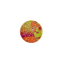 Orange Guy Spider Web 1  Mini Buttons by Simbadda