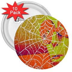 Orange Guy Spider Web 3  Buttons (10 Pack)  by Simbadda