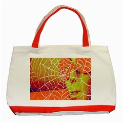 Orange Guy Spider Web Classic Tote Bag (red) by Simbadda