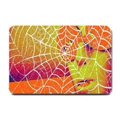 Orange Guy Spider Web Small Doormat  by Simbadda