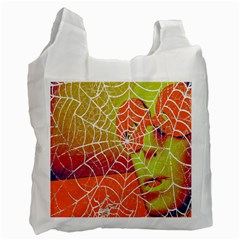 Orange Guy Spider Web Recycle Bag (one Side) by Simbadda
