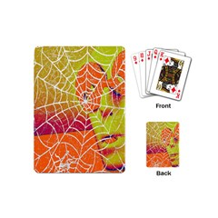 Orange Guy Spider Web Playing Cards (mini)  by Simbadda
