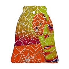 Orange Guy Spider Web Bell Ornament (two Sides) by Simbadda
