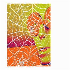 Orange Guy Spider Web Small Garden Flag (two Sides) by Simbadda