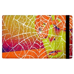 Orange Guy Spider Web Apple Ipad 2 Flip Case by Simbadda