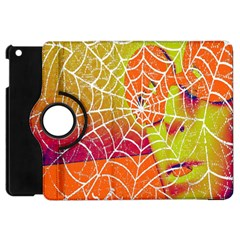 Orange Guy Spider Web Apple Ipad Mini Flip 360 Case by Simbadda