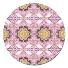 Floral Pattern Seamless Wallpaper Magnet 5  (round)