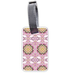 Floral Pattern Seamless Wallpaper Luggage Tags (one Side)  by Simbadda