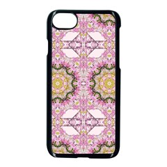 Floral Pattern Seamless Wallpaper Apple Iphone 7 Seamless Case (black)
