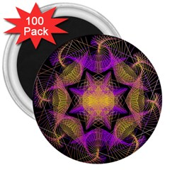 Pattern Design Geometric Decoration 3  Magnets (100 Pack) by Simbadda