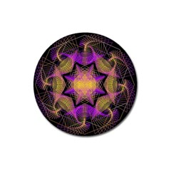 Pattern Design Geometric Decoration Magnet 3  (round) by Simbadda