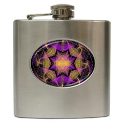 Pattern Design Geometric Decoration Hip Flask (6 Oz) by Simbadda