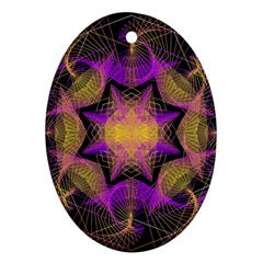 Pattern Design Geometric Decoration Oval Ornament (two Sides) by Simbadda