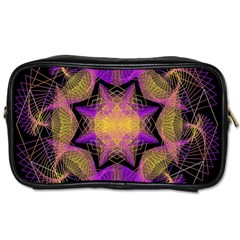 Pattern Design Geometric Decoration Toiletries Bags by Simbadda