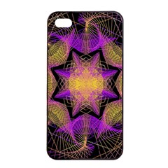 Pattern Design Geometric Decoration Apple Iphone 4/4s Seamless Case (black) by Simbadda