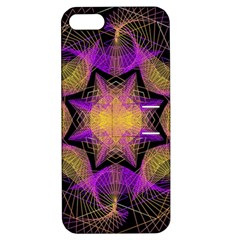 Pattern Design Geometric Decoration Apple Iphone 5 Hardshell Case With Stand by Simbadda