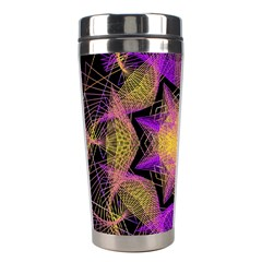 Pattern Design Geometric Decoration Stainless Steel Travel Tumblers by Simbadda