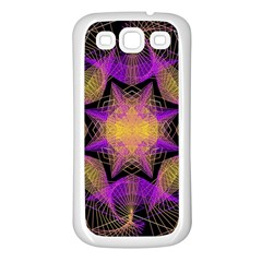 Pattern Design Geometric Decoration Samsung Galaxy S3 Back Case (white) by Simbadda