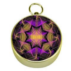 Pattern Design Geometric Decoration Gold Compasses by Simbadda