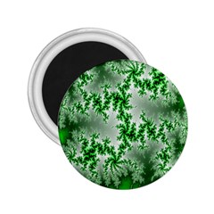 Green Fractal Background 2 25  Magnets by Simbadda