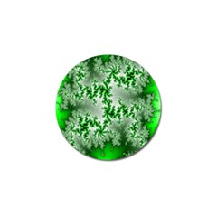 Green Fractal Background Golf Ball Marker (10 Pack) by Simbadda