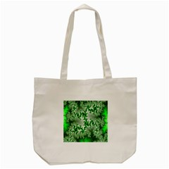 Green Fractal Background Tote Bag (cream) by Simbadda