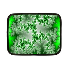 Green Fractal Background Netbook Case (small)  by Simbadda