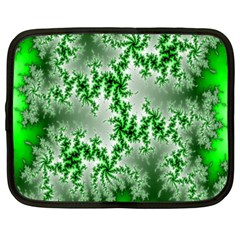 Green Fractal Background Netbook Case (xxl)