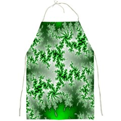 Green Fractal Background Full Print Aprons