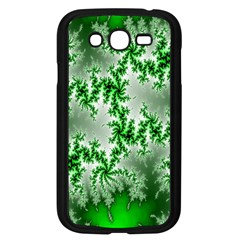 Green Fractal Background Samsung Galaxy Grand Duos I9082 Case (black) by Simbadda