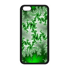 Green Fractal Background Apple Iphone 5c Seamless Case (black) by Simbadda