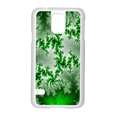Green Fractal Background Samsung Galaxy S5 Case (white) by Simbadda