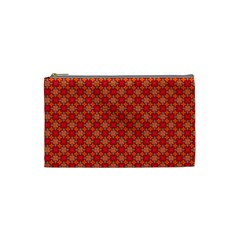 Abstract Seamless Floral Pattern Cosmetic Bag (small)