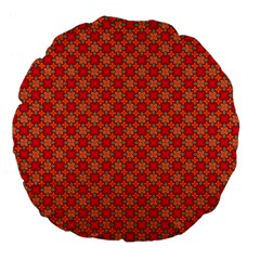 Abstract Seamless Floral Pattern Large 18  Premium Flano Round Cushions by Simbadda