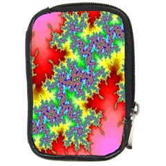 Colored Fractal Background Compact Camera Cases by Simbadda