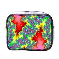 Colored Fractal Background Mini Toiletries Bags