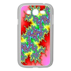 Colored Fractal Background Samsung Galaxy Grand Duos I9082 Case (white) by Simbadda