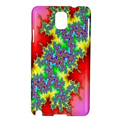 Colored Fractal Background Samsung Galaxy Note 3 N9005 Hardshell Case by Simbadda