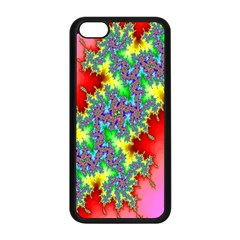 Colored Fractal Background Apple Iphone 5c Seamless Case (black) by Simbadda