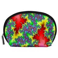 Colored Fractal Background Accessory Pouches (large)  by Simbadda