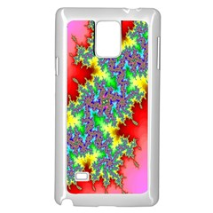 Colored Fractal Background Samsung Galaxy Note 4 Case (white) by Simbadda