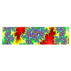 Colored Fractal Background Satin Scarf (oblong) by Simbadda